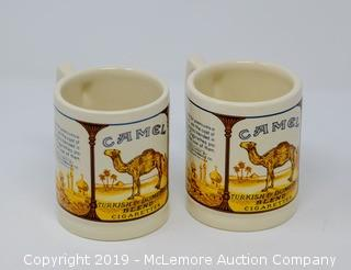 (2) Camel Cigarette Mugs