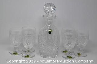 Waterford Crystal Decanter with Six Glasses