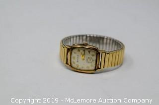 Men's Gold Tone and Stainless Steel Bulova™ Mechanical Movement Watch