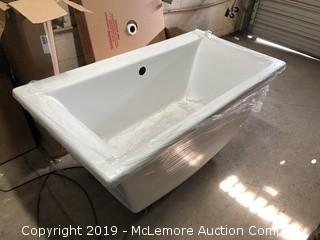 Late Addition - Jacuzzi Brand Model MP70  Fiore Free Standing Soaking Tub
