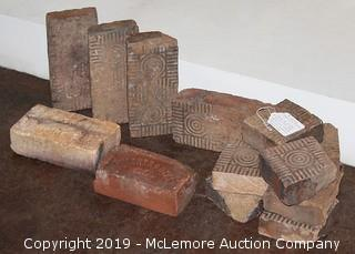 Vintage Hand Made Bricks (Set of 12)