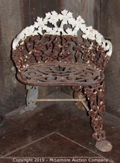 Vintage Cast Iron Garden Chair