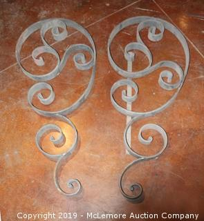Pair of Hand Forged Scrolls