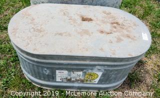 Galvanized 100 Gallon Water Tank