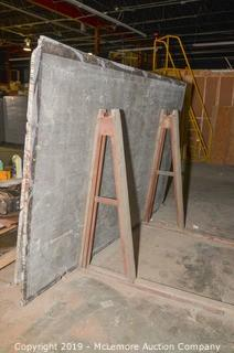 Steel Rack with Granite and Stone Slabs