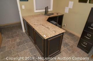Granite Top Desk