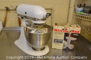 KitchenAid Classic Stand Mixer with Meat Grinder Attachment