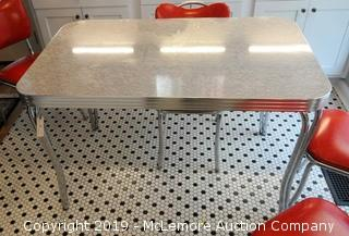 Retro Chrome with Formica Top Dining Table