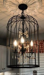 3 Light Birdcage Chandelier