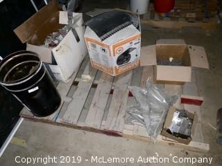 Pallet of Hardware, Brackets, Ridge Vent