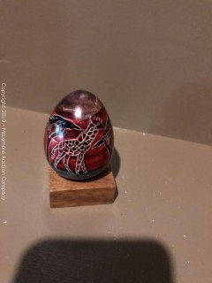 Late Addition - Hand Carved and Painted Stone Egg Made in Kenya