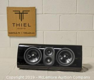 Black TC1 Speaker by Thiel Audio with Stand