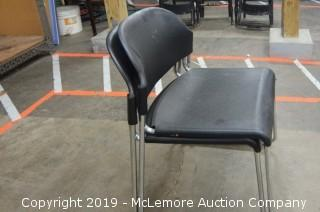 Set of Two Black Chairs