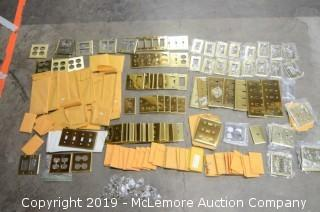 Quantity of Brass and Other Light Switch Covers