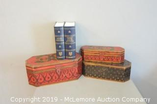 Compact Oxford Dictionary and Thesaurus and Decorative Boxes
