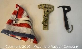 American Flag with an Axe