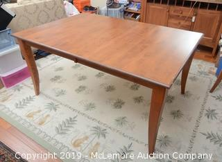 Solid Wood Dining Room Table with Two Leaves