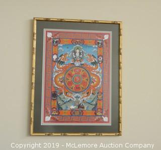 Framed Buddhist Print