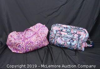 (x2) Vera Bradley Duffle Bags
