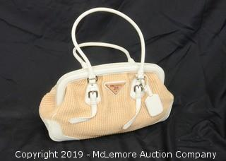 Wicker Prada Shoulder Bag