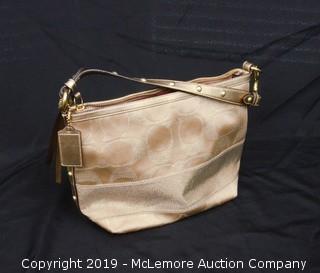Coach Gold Shoulder Bag