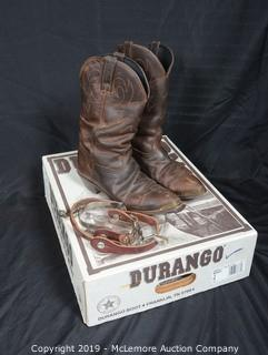 Durango Leather Cowboy Boots with Siturrups