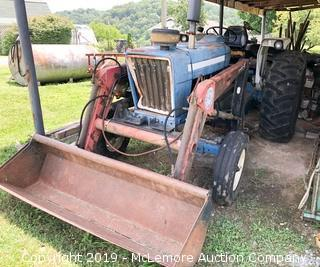 Ford 7600 Diesel Tractor with Bush Hog 2400QT Loader (Reserved for late pickup, see description)