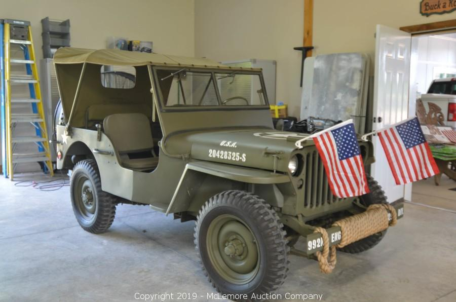 McLemore Auction Company - Auction: 1943 Ford GPW Military Jeep ITEM