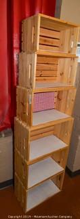 (6) Wooden Crates