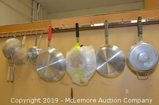 Assorted Pots, Pans and Strainers