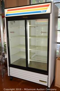 True GDM-45 Glass Door Merchandiser on Casters