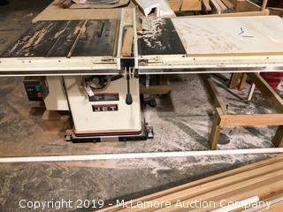 Jet Table Saw with Side Table
