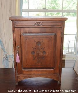 Solid Wood Small Antique Cabinet