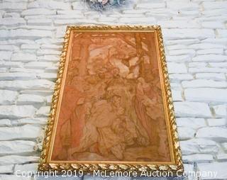 """The Adoration of Christ"" Framed Tapestry"