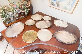 Assortment of Silver-Plate Trays
