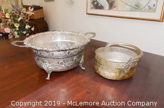(x2) Ornate Metal Bowls