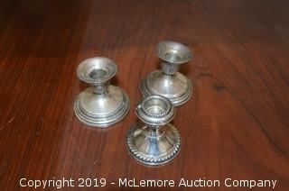 Sterling Silver Weighted Candle Holders