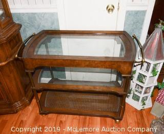 Wood and Glass Service/Beverage Cart