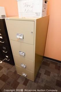 Schwab 1000 Fire Proof Four Drawer Filing Cabinet
