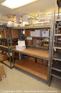 Rolling Industrial Metal Shelves