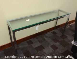 Glass and Chrome Hallway/Entryway Table