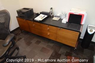 Mid Century Modern Style Executive Office Credenza