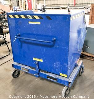 T&S Equipment Warehouse Trash Dump Bin on Wheels