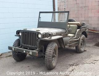 1943 Ford GPW WWII Military Jeep
