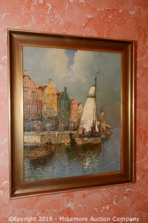 Oil Painting of Harbor