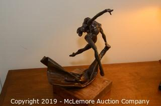 "Bronze ""Drape Dance"" Statue"