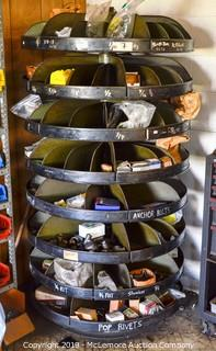 Rotating Parts Bin Organizer