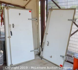 (2) Enclosed Trailer Doors