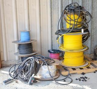 Assortment of Wire Spools & Controls