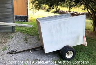 Single Axle Lawn Box Trailer